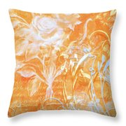 French Floral 2 Throw Pillow