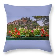 French Flowers Throw Pillow