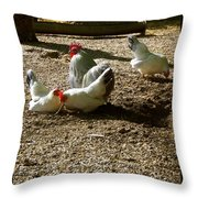 French Fowl Throw Pillow