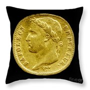 French Franc Throw Pillow