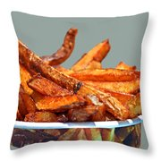 French Fries On The Boards Throw Pillow