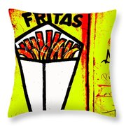 French Fries Santiago Style  Throw Pillow by Funkpix Photo Hunter