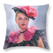 French Girl Throw Pillow