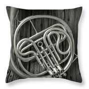 French Horn 2 Throw Pillow