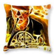 French Horn Throw Pillow by Stephen Younts