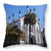 French Huguenot Church In Charleston Throw Pillow