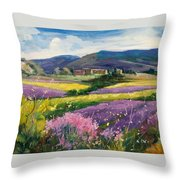 French Landscape Throw Pillow