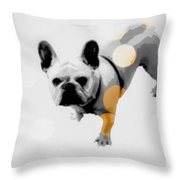 French Lights Throw Pillow