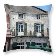 French Market Cafe Throw Pillow