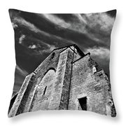 French Middle Age Kisses The Dark Sky Throw Pillow