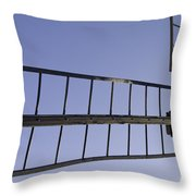 French Moulin Blades Throw Pillow