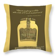 French Mustard Or Mustard King Throw Pillow
