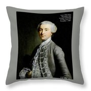 French Nobleman At The Court Of Versailles -1788 V A  Throw Pillow
