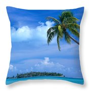 French Polynesia, Bora Bo Throw Pillow