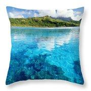 French Polynesia, View Throw Pillow