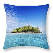 French Polynesian Island Throw Pillow