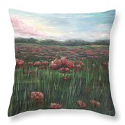 French Poppies Throw Pillow