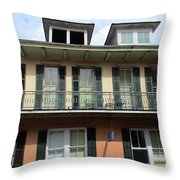 French Quarter 19 Throw Pillow