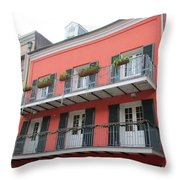 French Quarter 21 Throw Pillow