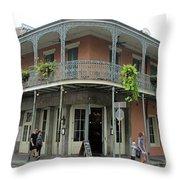 French Quarter 3 Throw Pillow