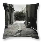 French Quarter Alley Throw Pillow by KG Thienemann