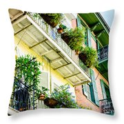 French Quarter Balconies - Nola Throw Pillow