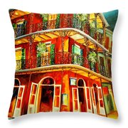 French Quarter Corner Throw Pillow