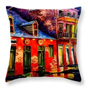 French Quarter Dazzle Throw Pillow