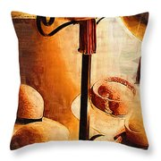 French Quarter Hats Throw Pillow