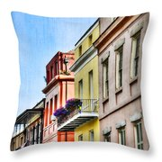 French Quarter In Summer Throw Pillow