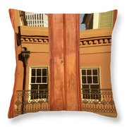 French Quarter Reflection Throw Pillow