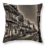 French Quarter Ride Throw Pillow