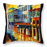 French Quarter Sunrise Throw Pillow