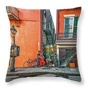 French Quarter Trio Throw Pillow