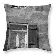 French Quarter Window Throw Pillow