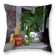 French Reflection Throw Pillow