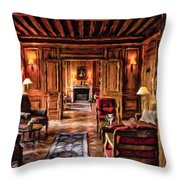 French Repose Throw Pillow