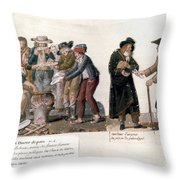French Revolution, 1795-96 Throw Pillow