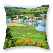 French River, P.e.i. Throw Pillow