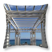 French Riviera 1 Throw Pillow