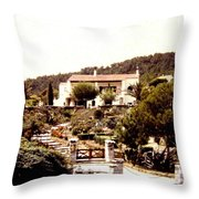 French Riviera 1955 Throw Pillow