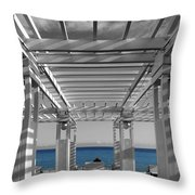 French Riviera 1c Throw Pillow