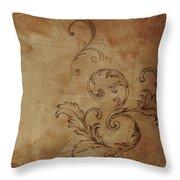 French Scrolls Throw Pillow by Jocelyn Friis