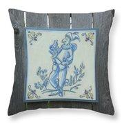 French Tile 1 Throw Pillow