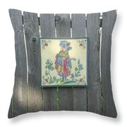 French Tile Colored 3 Throw Pillow