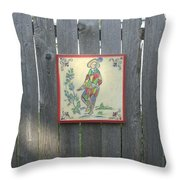 French Tile Colored 4 Throw Pillow