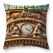 French Time Throw Pillow