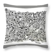 French Toast Throw Pillow by Chelsea Geldean