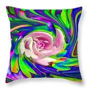 French Wild Rose Throw Pillow