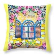 French Window  Throw Pillow